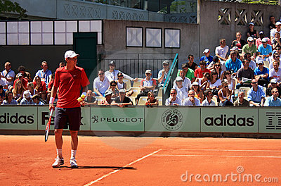 Tomas Berdych at Roland Garros 2011 Editorial Stock Image