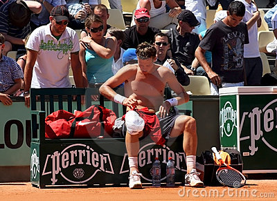 Tomas Berdych at Roland Garros 2011 Editorial Stock Image
