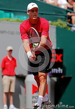 Tomas Berdych Tennis  2012 Editorial Image