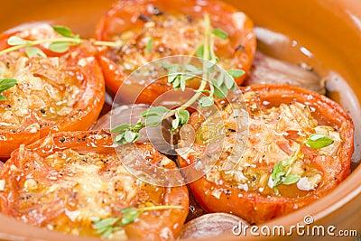 Tomates al Ajillo