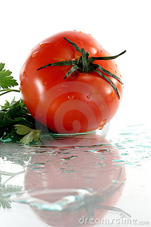 Free Tomato And Parsley Stock Images - 7420434