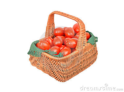 Tomato in basket
