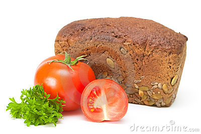 Tomato with bread