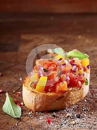 Free Tomato Bruschetta Or Antipasti Royalty Free Stock Photo - 30351025