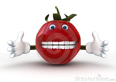 Tomato Character isolated