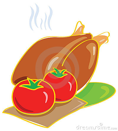 Tomato and Chicken Illustration