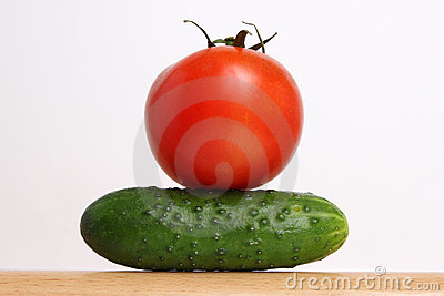 Tomato and cucumber