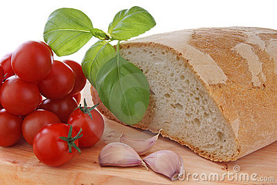 tomato garlic basil and bread