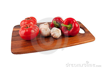 Tomato, garlic and pepper