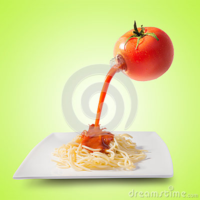 Tomato juice concept