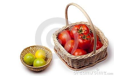 Tomato and lemon basket