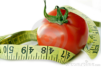 Tomato with measuring tape