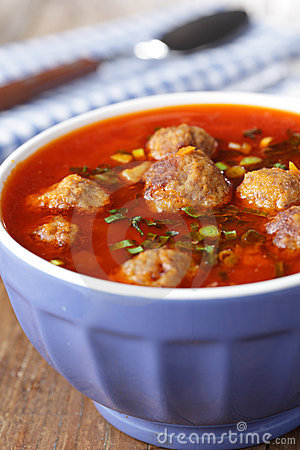 Free Tomato Meatball Soup Royalty Free Stock Photo - 18742775