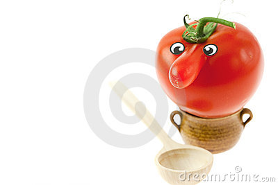 Tomato with a nose