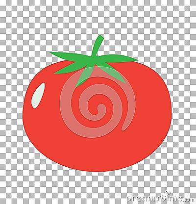 Free Tomato On Transparent. Tomato Sign. Royalty Free Stock Image - 107570146