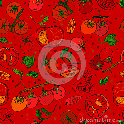 Free Tomato Pattern 01 A Stock Photos - 80341573