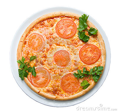 Tomato pizza    isolated