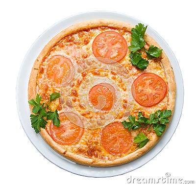 Tomato pizza    isolated