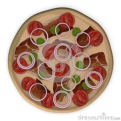 Tomato pizza top