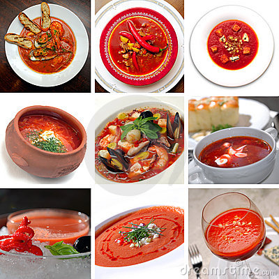 Tomato red soup