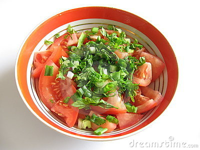 Tomato Salad Royalty Free Stock Photography - Image: 548677