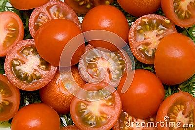 Tomato salad closeup