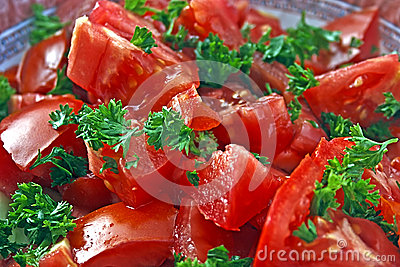 Tomato salad with parsley
