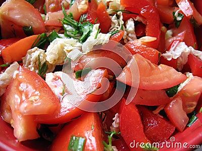 Tomato salad texture