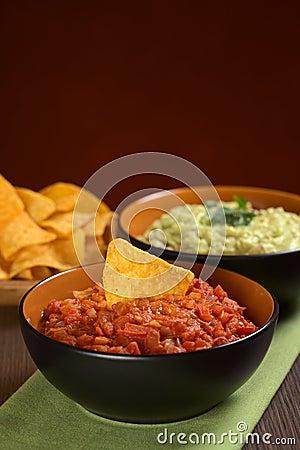 Tomato Salsa and Nacho