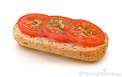 Tomato sandwich with chives #2