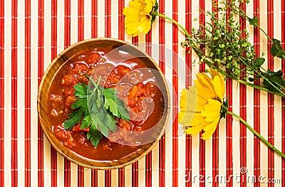 Tomato sauce in bowl