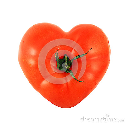 Tomato shaped like heart