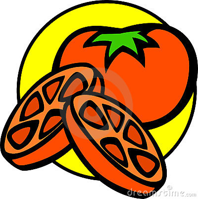 tomato and slices vector illustration