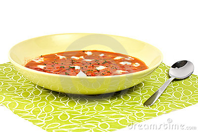 Tomato soop with chopped parsley