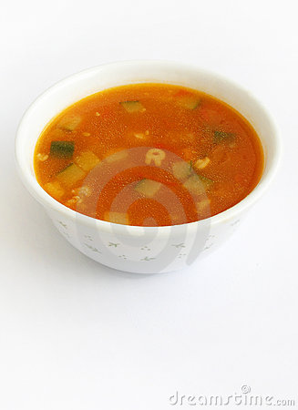 Free Tomato Soup With Vegetables Stock Image - 5889121