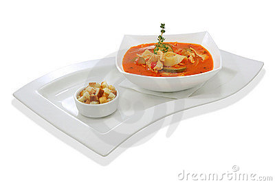 Tomato soup with zucchini