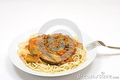 Tomato source spaghetti