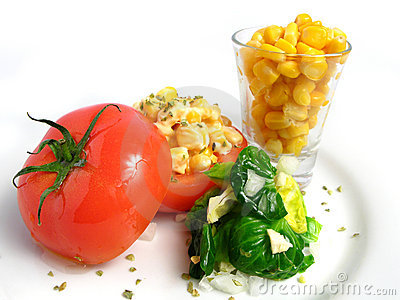 Tomato Stuffed with corn
