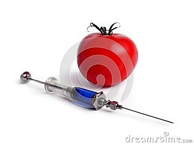 Tomato and syringe