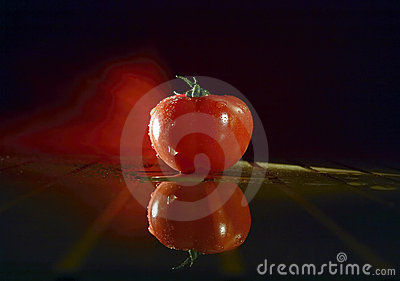 Tomato in unique lighting