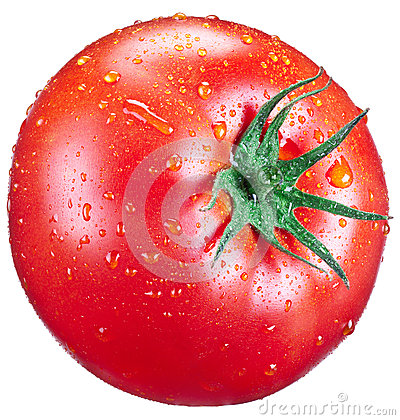 Free Tomato With Water Drops. Stock Images - 46079204