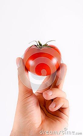 Tomatoe on the fingers