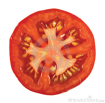 Tomatoe Macro Closeup Isolated