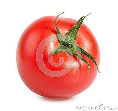 Free Tomatoe  On White Royalty Free Stock Images - 55861789