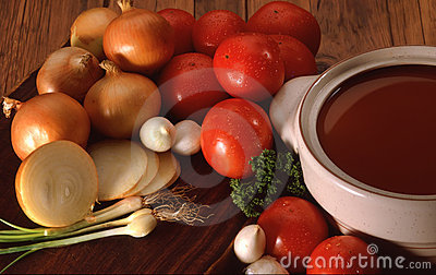 Tomatoe onion soup