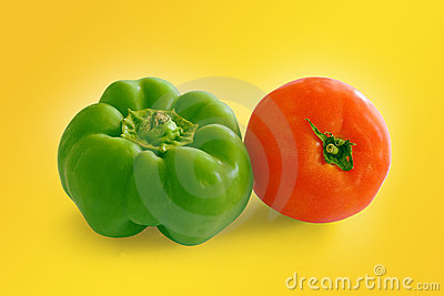 Tomatoe and pepper