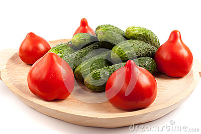 Tomatoes and gherkins