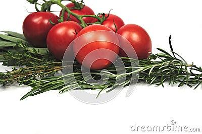 Tomatoes and Italian herbs