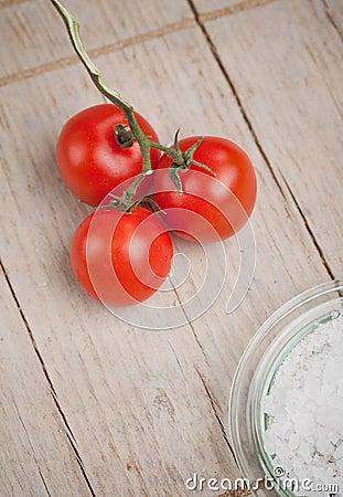 Tomatoes and salt