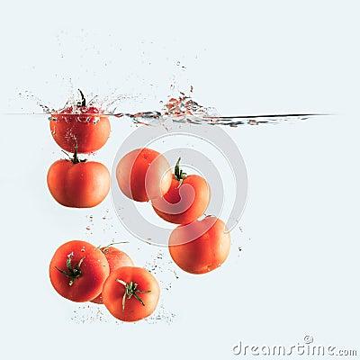 Free Tomatoes Splash Stock Photography - 28913062